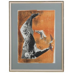 """Miracolo"" by Marino Marini Lithograph in Colours"