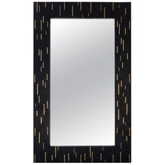 Mirage Horn Marquetry Mirror Frame with Brass Inlay