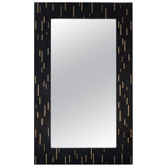 Mirage Horn Tessellated Mirror Frame with Brass Inlay