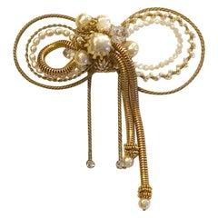 Miram Haskell 1950s Large Asymmetric Bow Pin