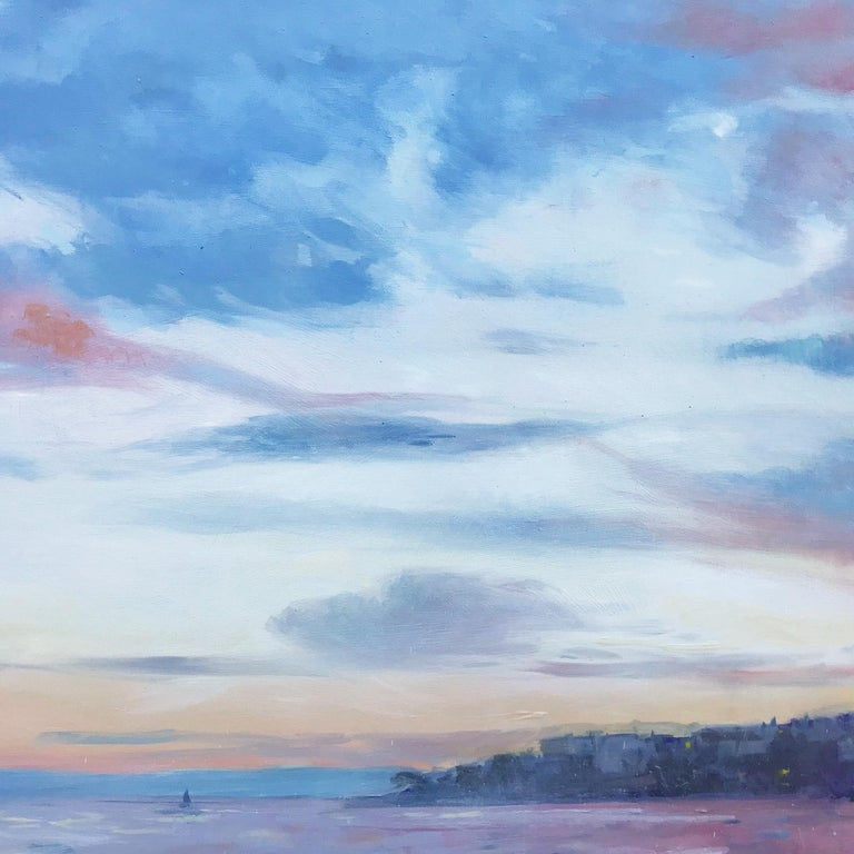 'Beautiful Day, Lake Geneva', Large Contemporary Transitional Landscape Painting For Sale 3