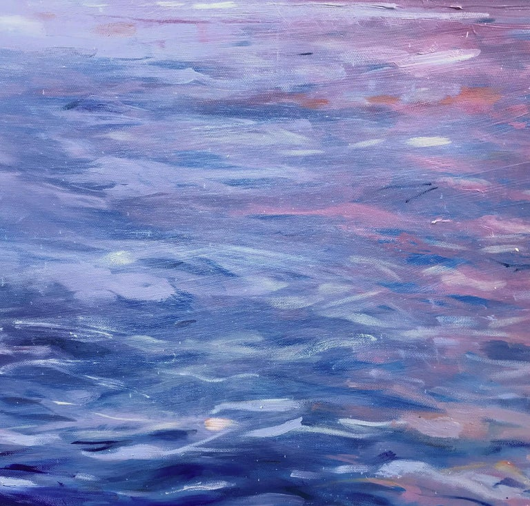 'Beautiful Day, Lake Geneva', Large Contemporary Transitional Landscape Painting For Sale 5
