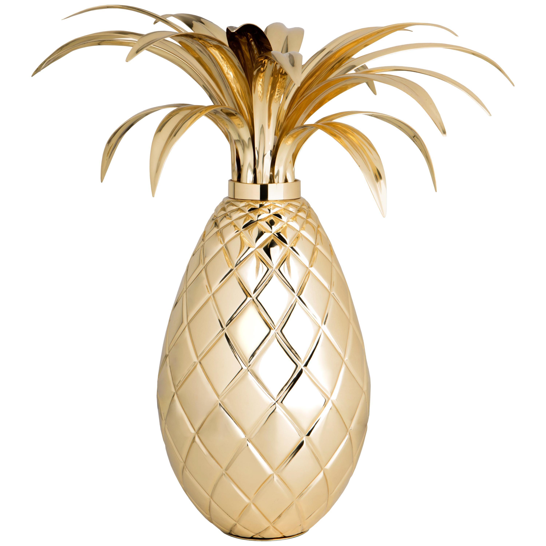 Miranda Pineapple Table Lamp in Brass
