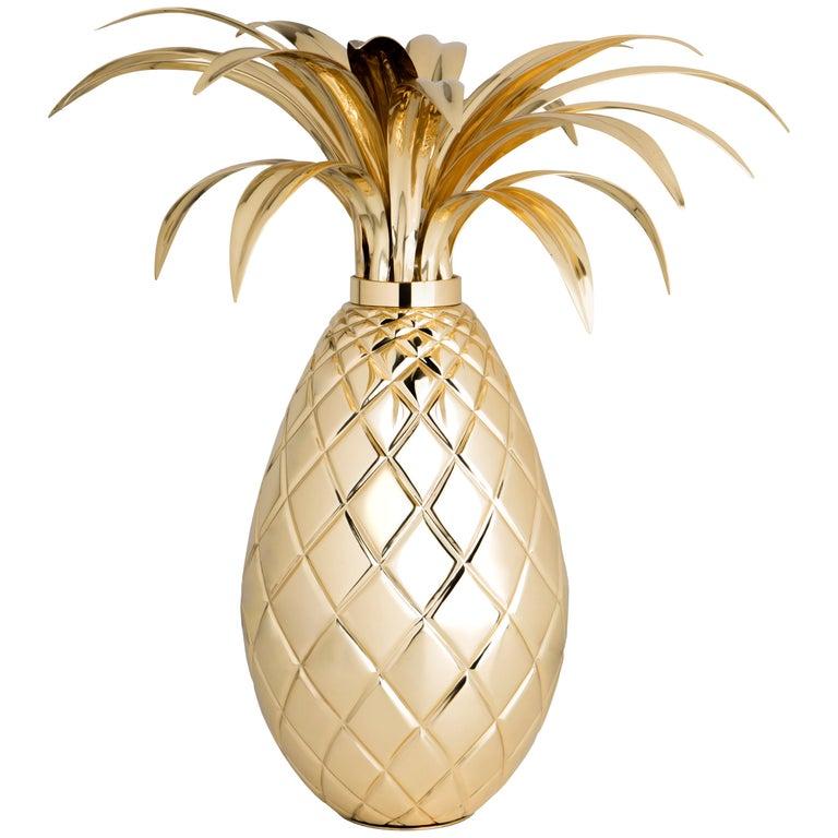 Miranda Pineapple Table Lamp in Brass For Sale