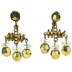 Miriam Haskell Crystal Chandelier Earclips
