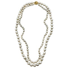 Miriam Haskell Double Strand Fine Pearl Necklace