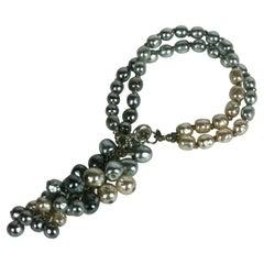 Miriam Haskell Grape Cascade Fob Bracelet