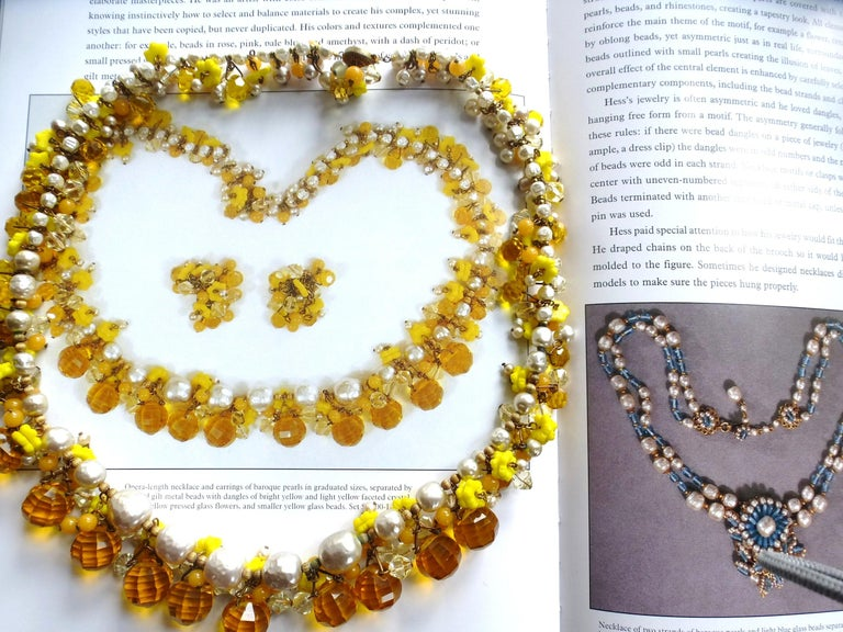 MIRIAM HASKELL necklace bookpiece 1950s For Sale 5