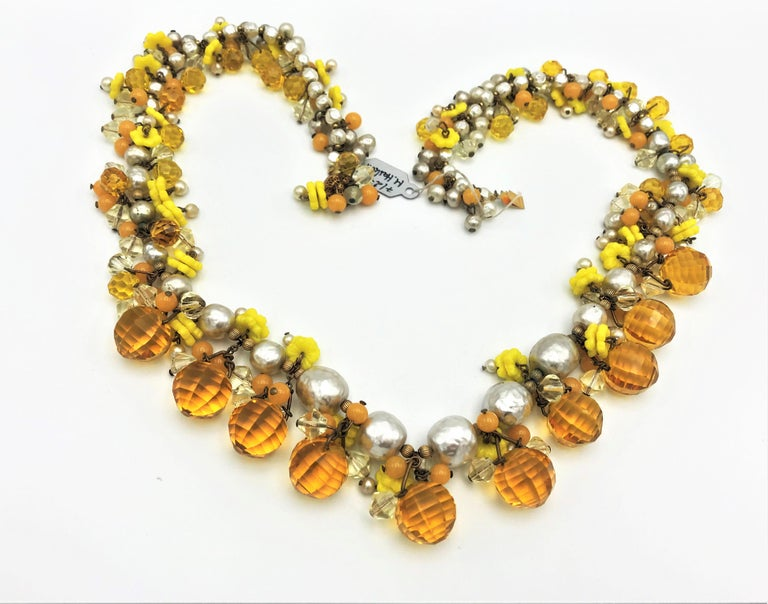 A very decorative and important necklace by Miriam Haskell, shown in
