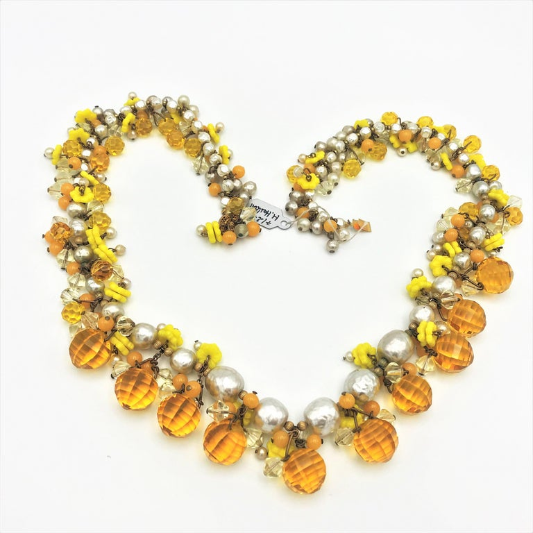Artisan MIRIAM HASKELL necklace bookpiece 1950s For Sale
