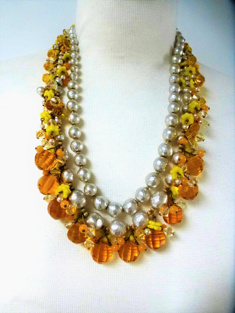 MIRIAM HASKELL necklace bookpiece 1950s In Excellent Condition For Sale In Stuttgart, DE
