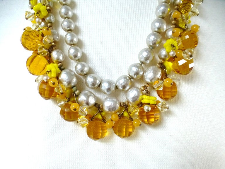 Women's MIRIAM HASKELL necklace bookpiece 1950s For Sale