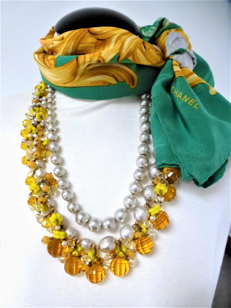 MIRIAM HASKELL necklace bookpiece 1950s For Sale 2