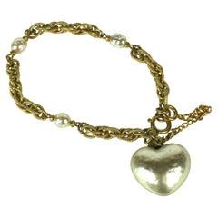 Miriam Haskell Pearl Heart Bracelet