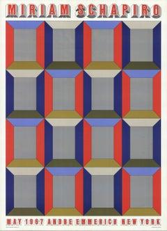 1967 Miriam Schapiro 'Silver Windows' Pop Art Offset Lithograph