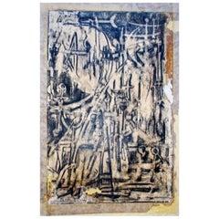 Mirko Basaldella Monoprint Italian Midcentury Abstract Modern