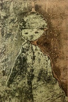 Signed Lithograph Italian Modernist Avant Garde Mirko Basaldella Standing Figure