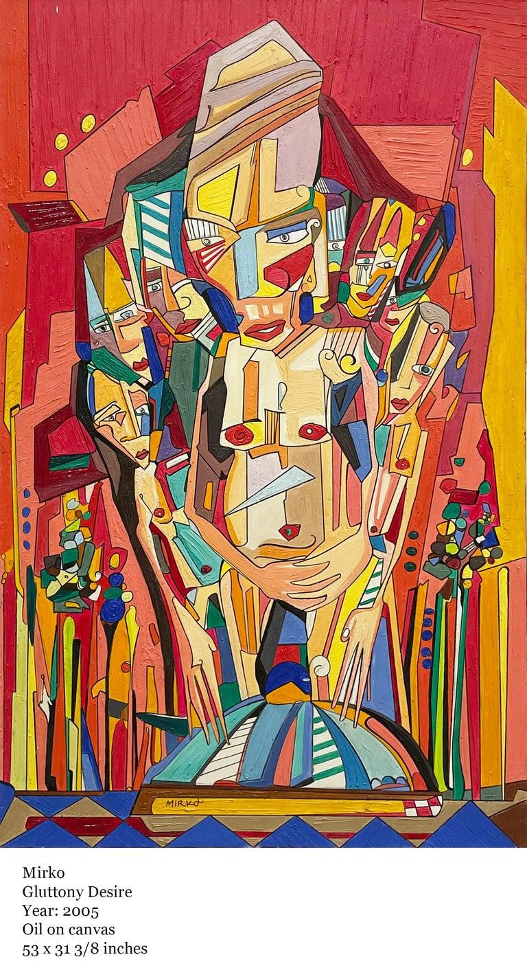 Glottony Desire - Painting by Mirko Guida