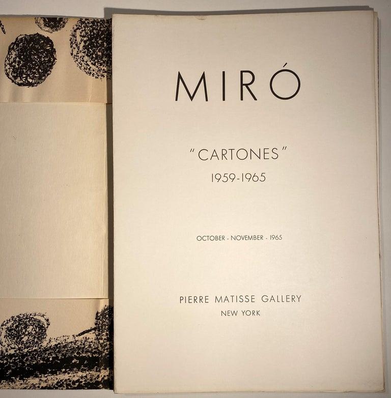 Mid-Century Modern Miro Cartones For Sale
