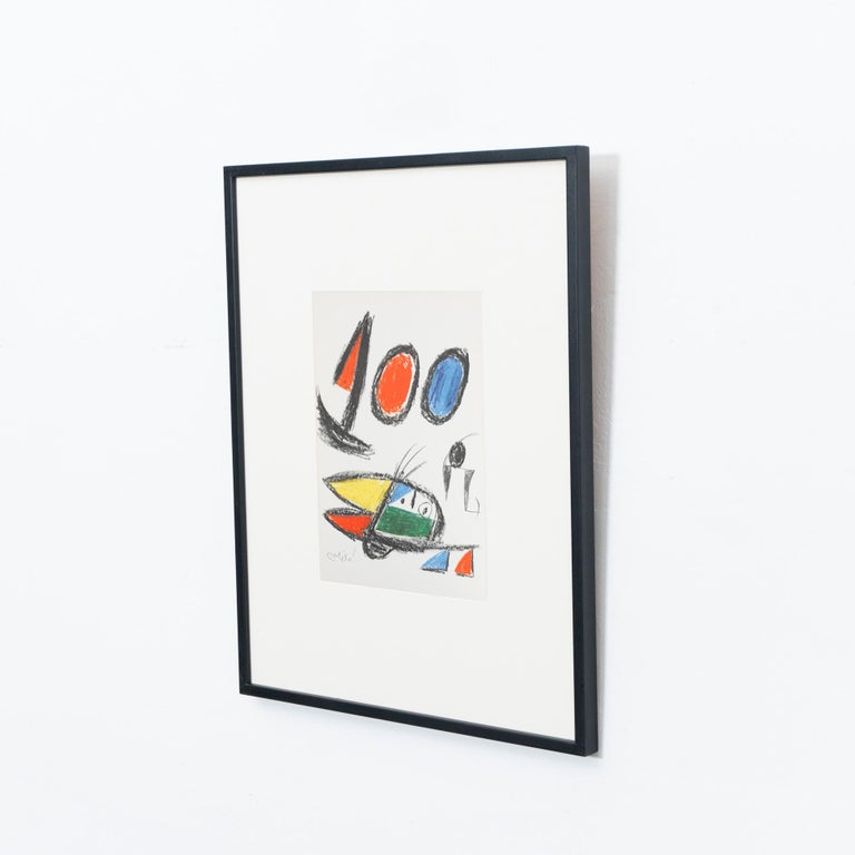 European Miró, Limited Edition Photolithography, circa 1970 For Sale