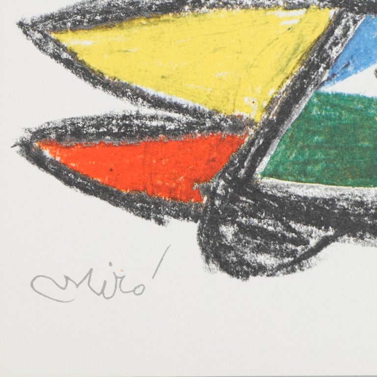 Miró, Limited Edition Photolithography, circa 1970 In Good Condition For Sale In Barcelona, Barcelona