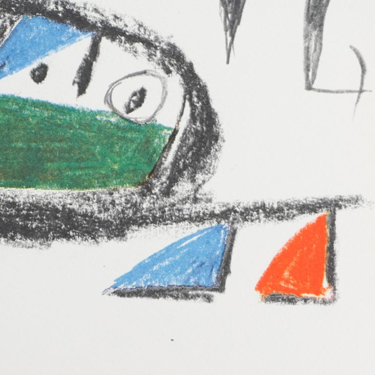 Late 20th Century Miró, Limited Edition Photolithography, circa 1970 For Sale