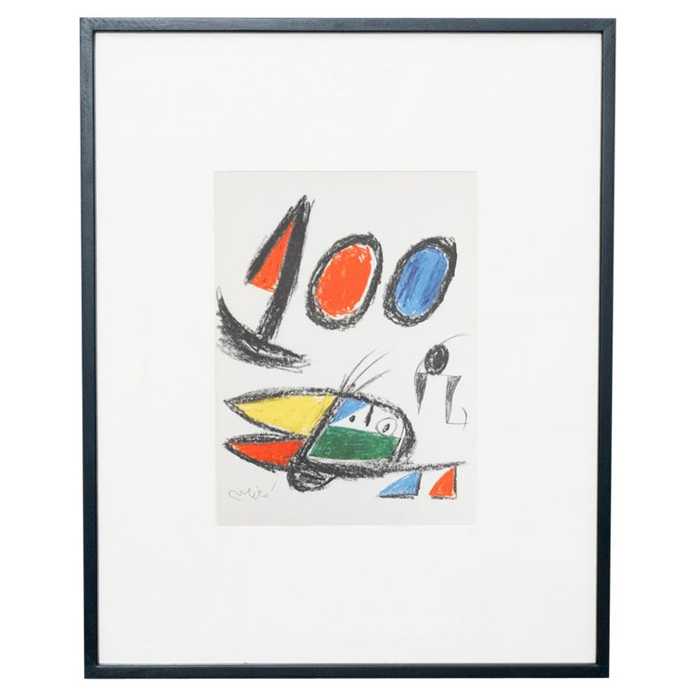 Miró, Limited Edition Photolithography, circa 1970 For Sale