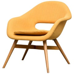 Mid-Century Modern Miroslav Navrátil Bucket Lounge Chair for Vertex