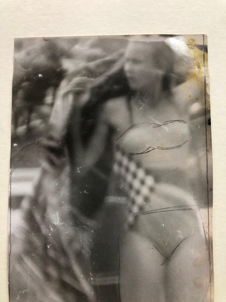 Original Vintage Print - Woman in Bikini - Unique Piece For Sale 7