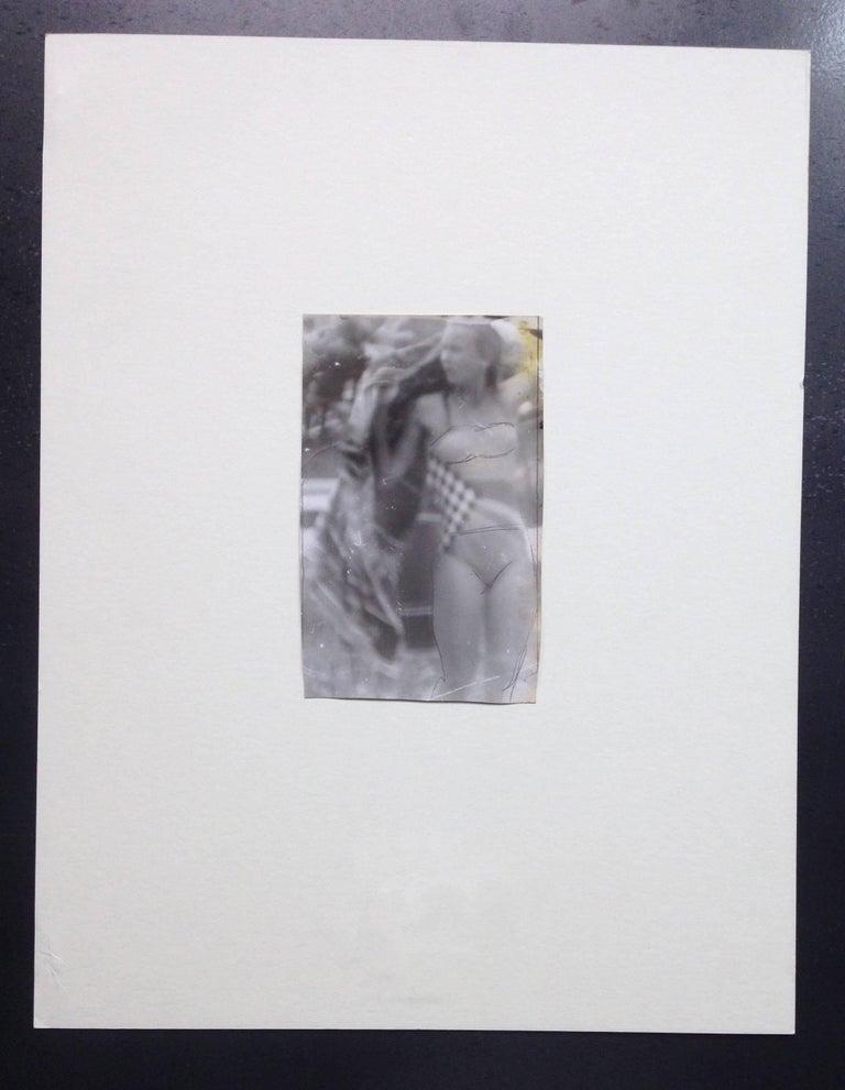 Original Vintage Print - Woman in Bikini - Unique Piece - Photograph by Miroslav Tichy