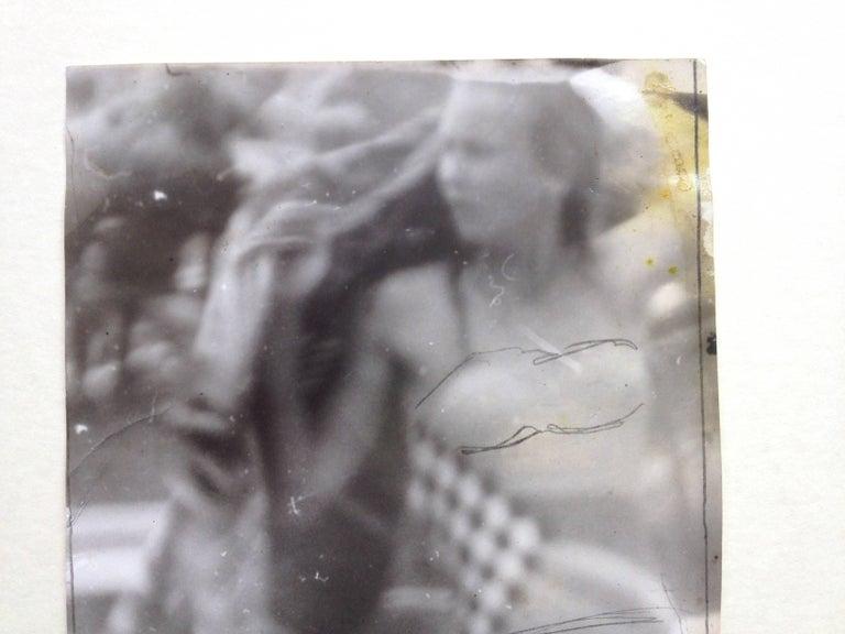 Original Vintage Print - Woman in Bikini - Unique Piece - Gray Black and White Photograph by Miroslav Tichy