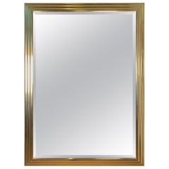 Mirror A Brass Finish Beveled Wall Mirror