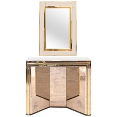 Mirror and Console Table Set