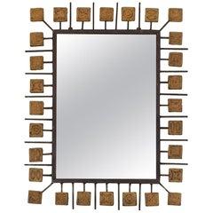 Mirror Attributed to Clizia, circa 1970, Italy