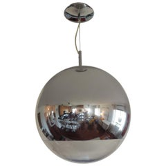 Mirror Ball Pendant Light in Silver by Tom Dixon