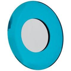 Contemporary Blue Mirror in Style Fontana Arte by Effetto Vetro, 2010