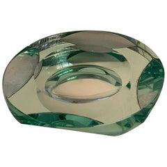 Mirror Bowl, Ashtray Italian 1950s by Fontana Arte