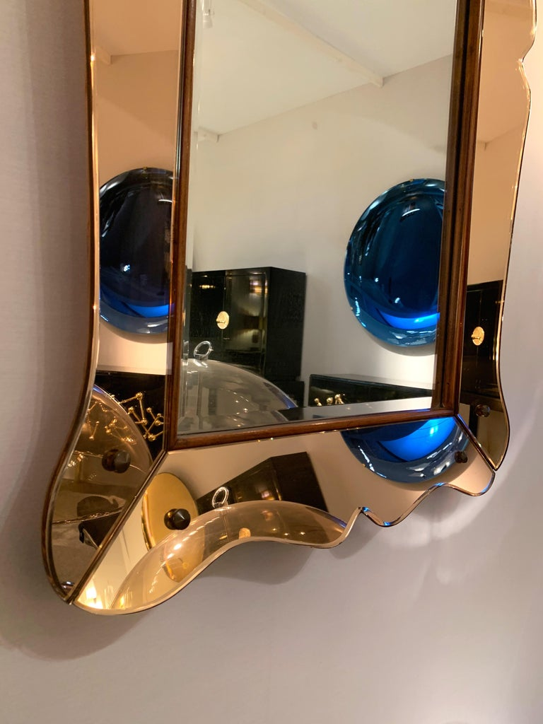 Italian Mirror by Cristal Art, Italy, 1960s For Sale