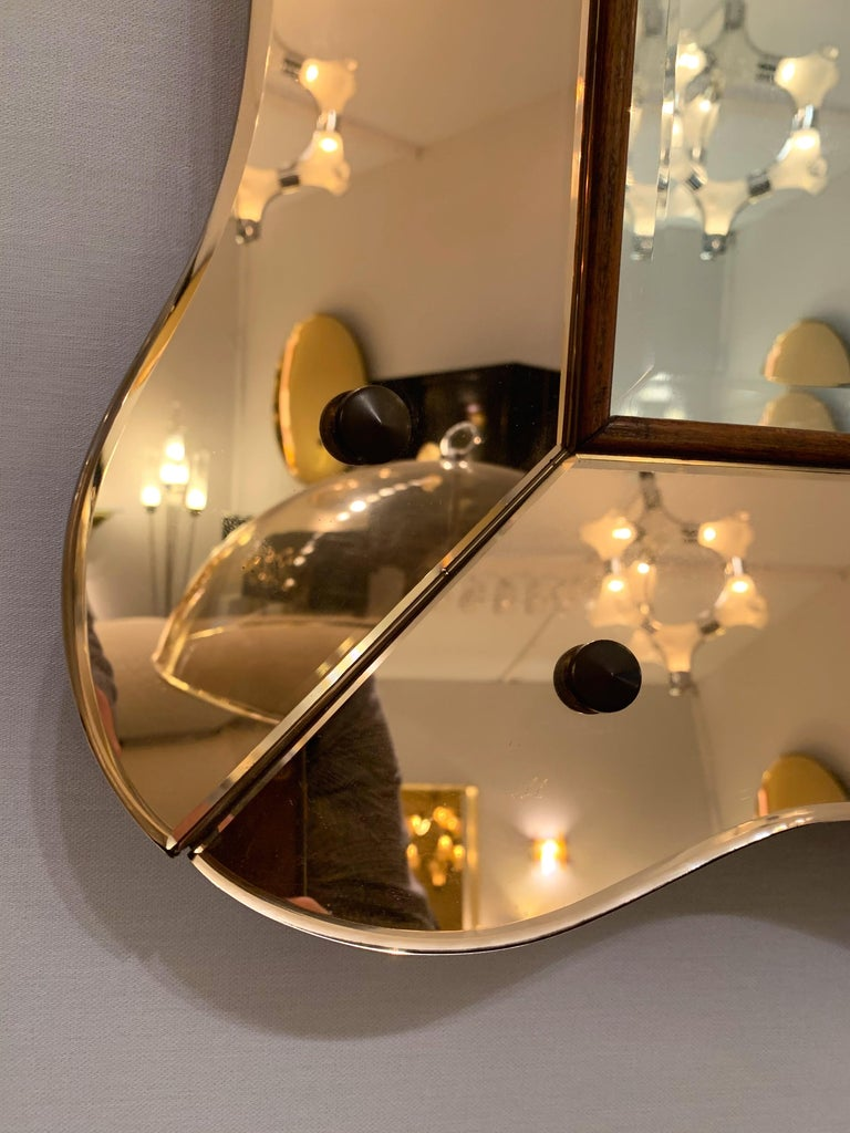 Mirror by Cristal Art, Italy, 1960s In Good Condition In SAINT-OUEN, FR