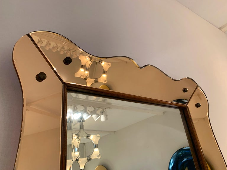 Mid-20th Century Mirror by Cristal Art, Italy, 1960s For Sale