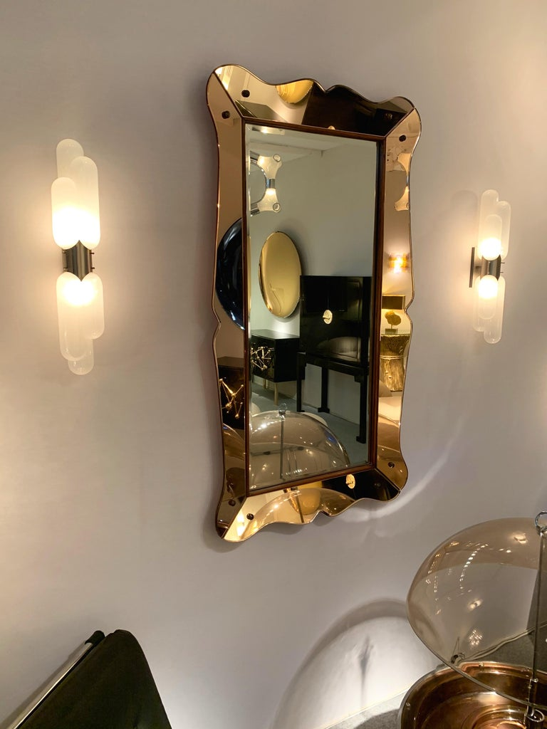 Mirror by Cristal Art, Italy, 1960s For Sale 1