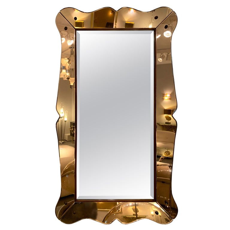 Mirror by Cristal Art, Italy, 1960s For Sale