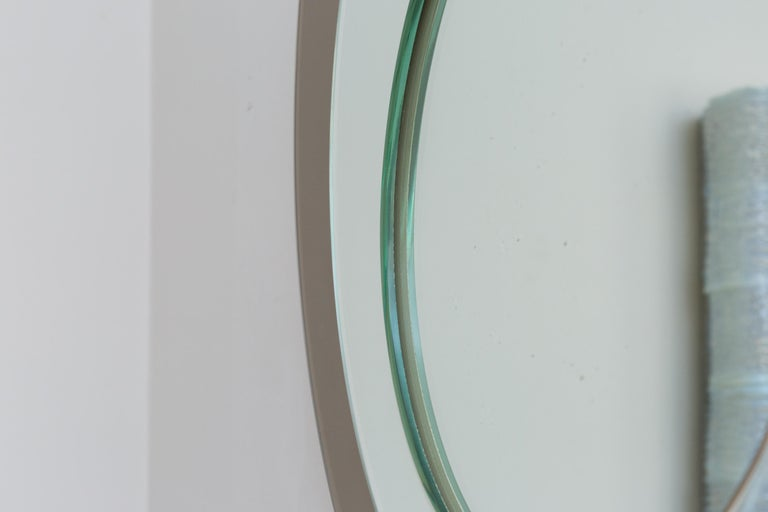Mid-Century Modern Mirror by Cristal Art, Italy, circa 1960 For Sale