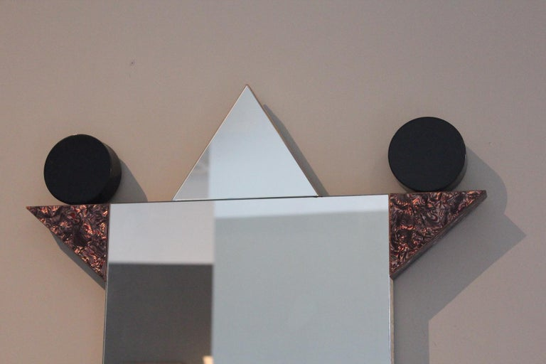 Vintage Diva mirror by Ettore Sottsass for Memphis Milano, 1984.