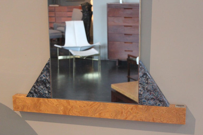 Mirror by Ettore Sottsass for Memphis In Good Condition In Dallas, TX