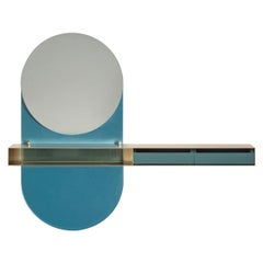 Mirror and jewellery shelf, complementary for entrance hall, bedroom and