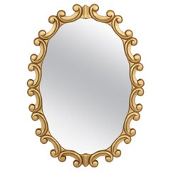 Mirror, Mid-Century, Painted Gold, circa 1950