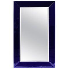 Mirror Cobalt Blue, Mid-Century Modern, Beveled Large Size, Custom