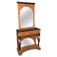 Mirror Console in Empire Style after Jacob Desmalter