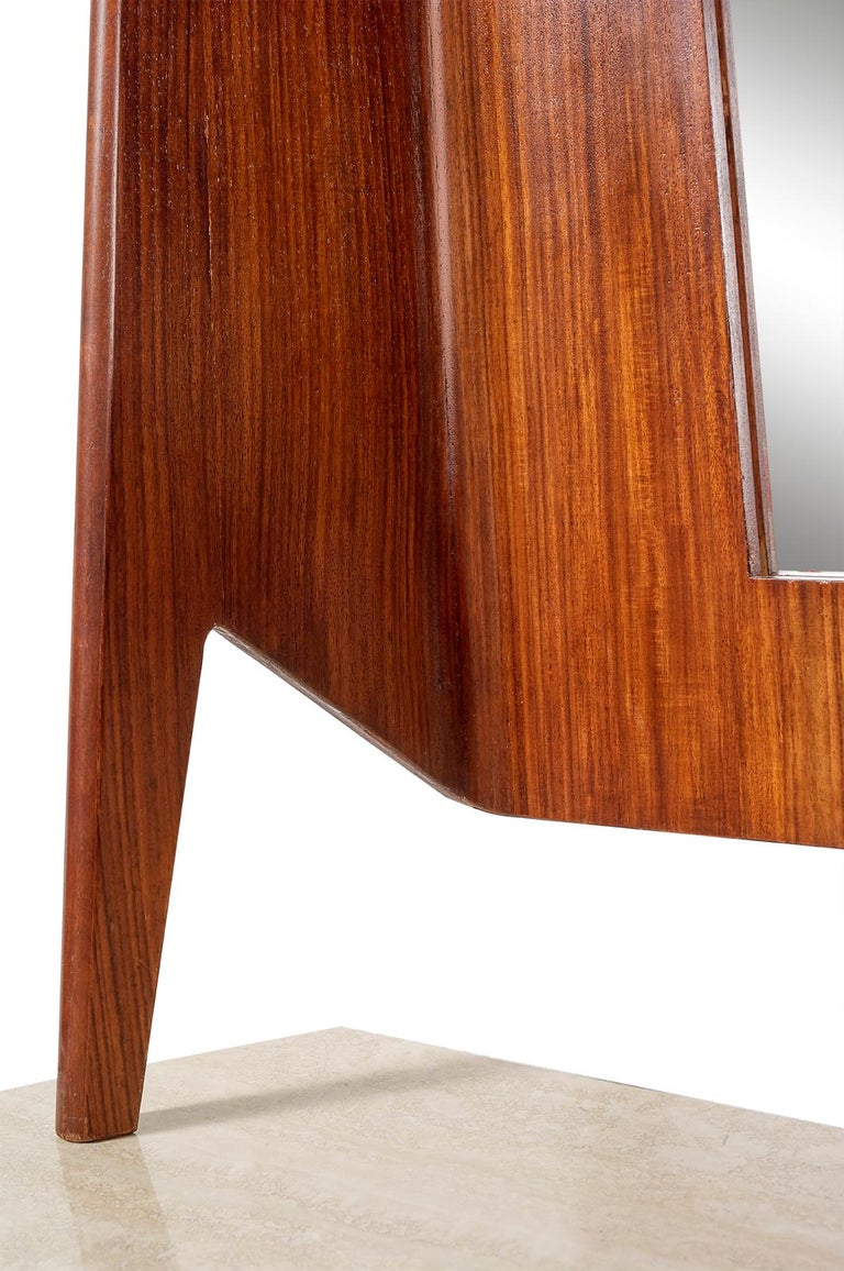Mirror Console Rosewood and Travertine by Mobili Cantu, 1950 For Sale 5
